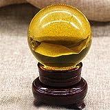 Bola de Cristal 1 unids diseño de Moda ámbar Cristal Bola Esfera de Cuarzo fotografía Accesorios decoración del hogar Accesorios (Color : 20mm)