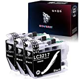 Wolfgray LC3217 LC 3217 Cartuchos de Tinta Reemplazo para Brother LC3217 LC3217BK LC3219XL para Brother MFC-J5330DW MFC-J5335DW MFC-J5730DW MFC-J5930DW MFC-J6530DW MFC-J6930DW MFC-J6935DW (3 Negro)