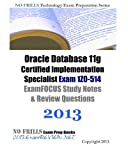 Oracle Database 11g Certified Implementation Specialist Exam 1Z0-514 ExamFOCUS Study Notes & Review Questions 2013