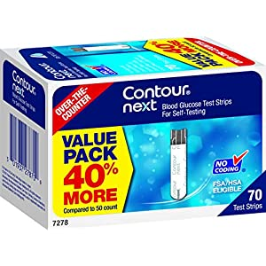 buy CONTOUR NEXT Blood Glucose Test Strips, 70 Count Blood Test Strips