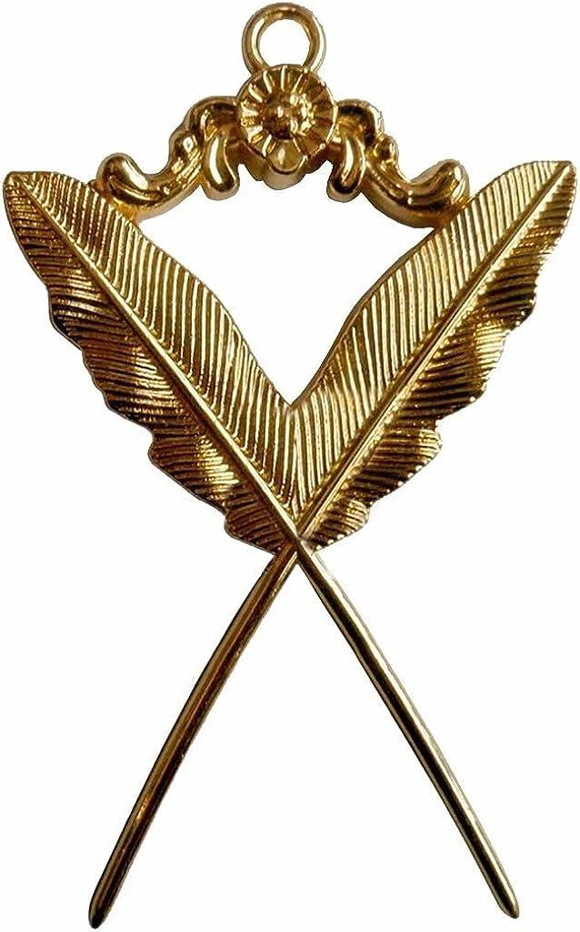 Masonic Gold Collar Jewel - Secretary