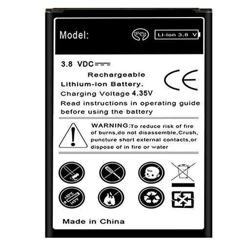 Galaxy S4 Mini Battery, Large Power 3480mAh Best Replacement Li-ion Battery for Samsung Galaxy S4 Mini GT-I9190 GT-I9195 GT-I9192 SCH-I435 Phone