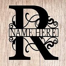 AJD Designs Personalized Last Name R Door Hanger - 20