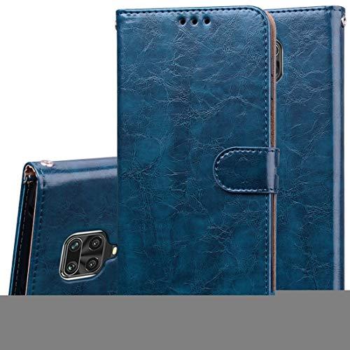Kounshanpa Business Case Style Cera de petróleo Textura Horizontal del tirón del Cuero, con el sostenedor y Ranuras for Tarjetas y Monedero (Color : Blue)
