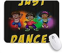 EILANNAマウスパッド ヒップホップダンスの絵画芸術をしている子供たち ゲーミング オフィス最適 おしゃれ 防水 耐久性が良い 滑り止めゴム底 ゲーミングなど適用 用ノートブックコンピュータマウスマット
