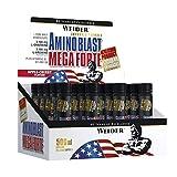 Weider Amino Blast Mega Forte 20 Ampollas de 25ml - 500 ml (20X25) Aminoacidos esenciales bebibles.