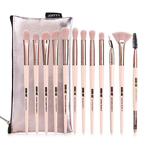 Pinceaux de Maquillage, 12 Pièces Brosse de Maquillage Professionnel Synthétique Fusion de Fond de Teint Concealer Eye Visage Liquide Poudre Crème Cosmétique Pinceaux kit