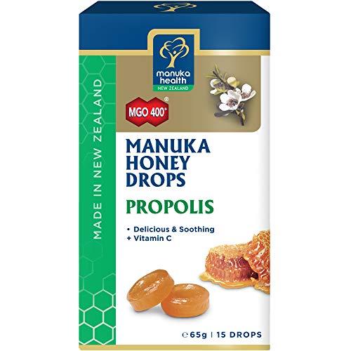 Manuka Health Caramelos con miel de Manuka y propóleo - Manuka Health - caja de 15 caramelos - 65g (MGO 400+)