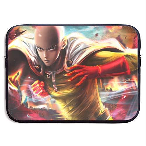 Anime One Punch Man Convenient Large Capacity Laptop Bag Tablet Protective Bag Cute Fun and Exquisite Print(13 Inch 15 Inch)15 inch