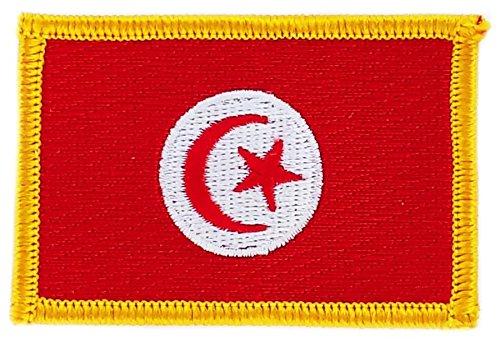 Aufnäher Patch bestickt, Tunesien Tunesier Flagge flag BW Wappen zum Aufbügeln