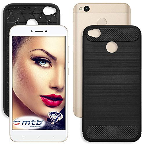 mtb More Energy® Funda TPU Carbono para Xiaomi Redmi 4X (5.0