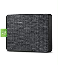 Seagate Ultra Touch SSD 1TB External Solid State Drive Portable - Black USB-C USB 3.0 for PC MAC and Seagate Mobile Touch app for Android, Mylio, Adobe, & 3-Year Rescue Service (STJW1000401)