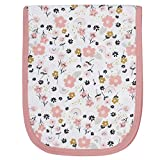 Gerber Baby 4-Pack Flannel Burp Cloth, Bear Pink, One size