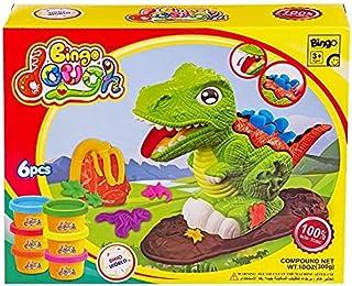Bingo Dough Dino World 3D Machine + 6 Cans + 4 Bags