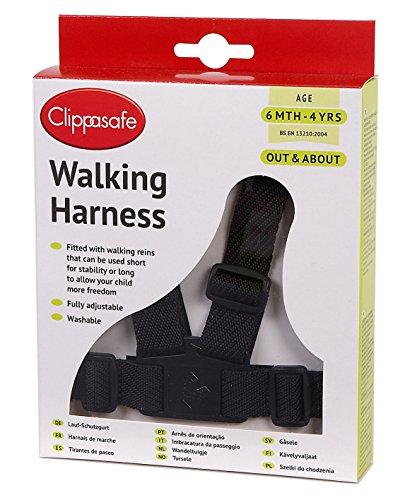 CLIPPASAFE Redinelle con cinghia da polso walking harness nero