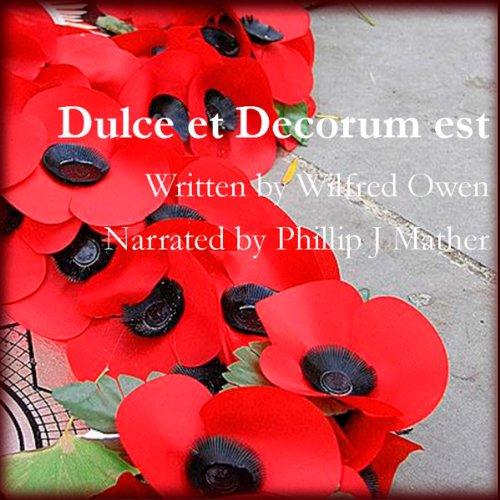 Dulce et Decorum Est audiobook cover art