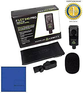 Lewitt LCT 240 PRO Condenser Microphone Black with Microfiber and 1 Year Everything Music Extended Warranty