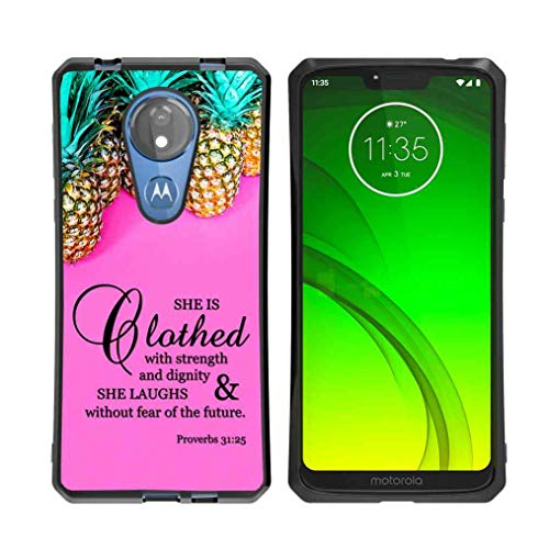 for Moto G7 Power Case, Moto G7 Supra Case Pineapples Pattern, ABLOOMBOX Shock Soft Bumper Slim Rubber Protective Case with Reinforced Corners for Motorola Moto G7 Power
