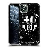 Head Case Designs Licenciado Oficialmente FC Barcelona Mármol Negro Crest Patterns Carcasa de Gel de Silicona Compatible con Apple iPhone 11 Pro MAX