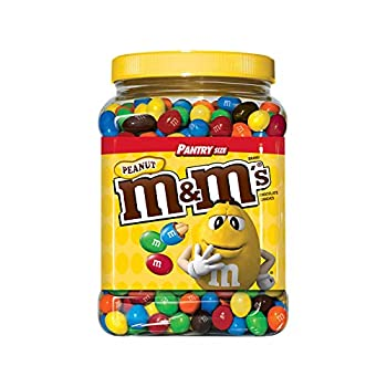 An Item Of M&M s Peanut Chocolate Candy Pantry Size plastic Jar  62 Oz  Pack Of
