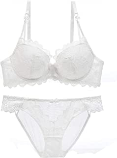 Howely Womens Sexy Comfort Cotton Lingerie Breathable Lace Bra+Pants Set