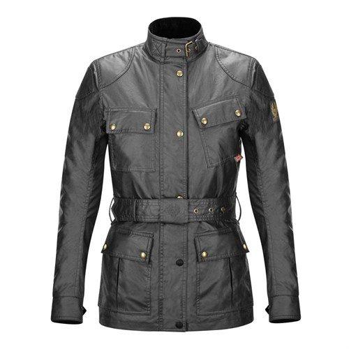 Belstaff Damen TRIALMASTER Jacke–Schwarz Gr. 48, schwarz