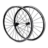 Juego Ruedas Bicicleta 700C para Bicicleta Carretera Llanta Doble Pared 30mm V Freno Aleación Aluminio Centro Tarjetas 7-11 Velocidad Rodamiento Sellado QR, Ruedas para Bicicletas (Color : B)