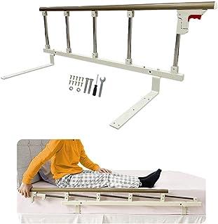 QSXF Bed Rails Bed Rail Safety Side Guard for Elderly Adults Toddler Kids Assist Handle Handicap Bed Railing Folding Hospital Metal Grip Bumper Bar,90cm