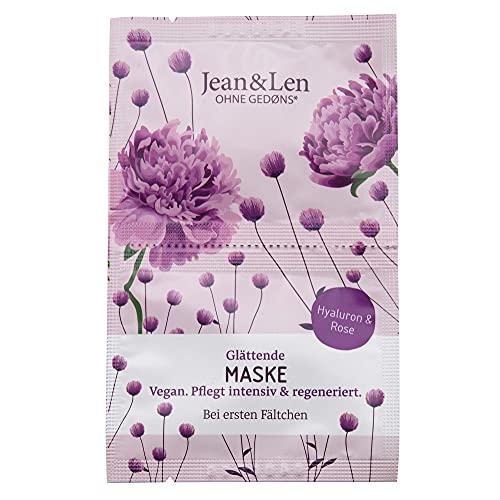 Jean & Len Glättende Maske mit Hyaluron und Rose, 2 x 5 ml