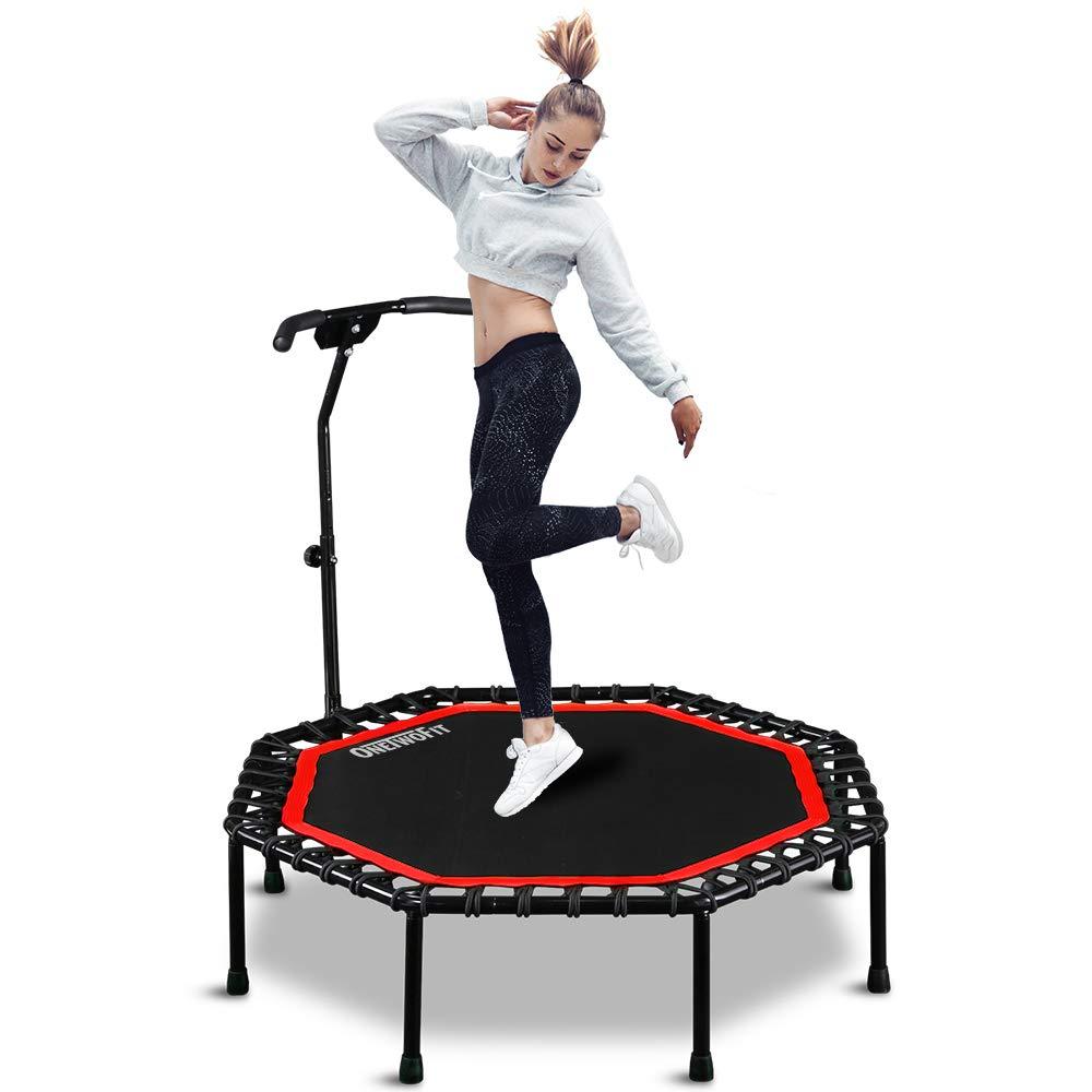 ONETWOFIT Trampoline Adjustable Fitness Rebounder