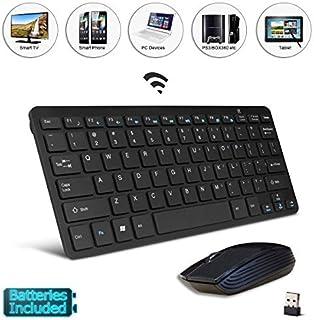 Black Wireless Mini Ultra Slim Keyboard and Mouse for Panasonic Smart TV TX-TX-L42ETW60 L32EW6 TX-TX-L47ETW50 50ASW604