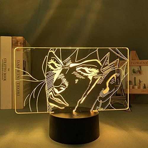 MBFT Lámpara 3D Anime Jojo Bizarre Aventura Rohan Kishibe para dormitorio, lámpara de regalo de cumpleaños para él Jojo LED Light Manga 3D Anime Luz nocturna