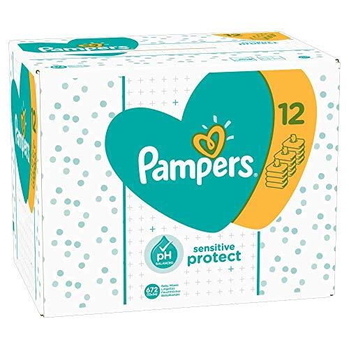 Pampers Sensitive Protect Babytücher, 12 Packungen (672 Tücher)