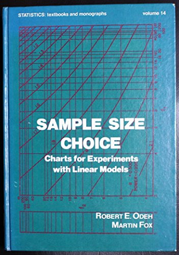Sample size choice: Charts for experiments with linear models (Statistics. textbooks and monographs)