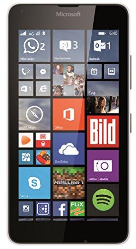 "Microsoft Lumia 640 LTE - Smartphone libre Windows Phone (pantalla 5"", cámara 8 Mp, 8 GB, Quad-Core 1.2 GHz, 1 GB RAM, 4G), blanco"