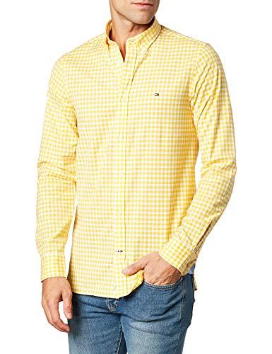 Tommy Hilfiger Slim Natural Soft Gingham Shirt Camiseta para Hombre