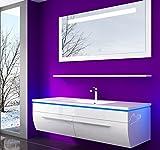 Danny Badmöbelset 120 cm Weiß VormontierteBadezimmermöbel Waschbeckenschrank mit Waschtisch...