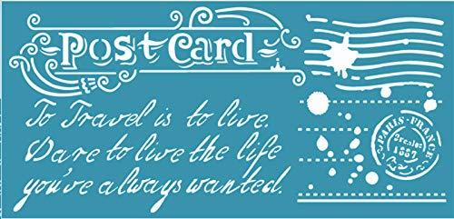 Zita`s Creative Schablone 12x25cm - Post Card. Schablone, Stencil