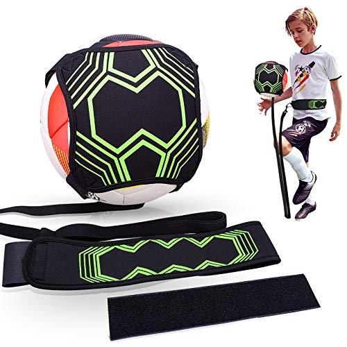 Tendak Fußball Training Solo Fußball Kick Trainer, Erweiterte Version Fußballtrainingskontrollgürtel, Geeignet für Anfänger, Profisportler, Kinder(ausgestattet mit verlängerten Trägern)