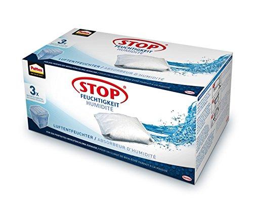 Pattex PURS3 Stop Feuchtigkeit Universal Nachfüllbeutel/gegen Feuchtigkeit und Schlechte Gerüche/ 3 x 450 G Granulatkissen
