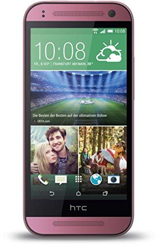 HTC One Mini 2 Smartphone (11,4 cm (4,5 Zoll) Touchscreen, Qualcomm Snapdragon 400, 1,2GHz Quadcore, 5 Megapixel Kamera, Nano-SIM, Android) pink
