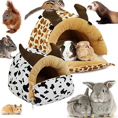 LeerKing Cama Hamaca de Hurón Casa Hamster Durmiendo Hábitat de Animales Pequeños para Conejos Cobayas Rata Chinchilla, Ciervo L