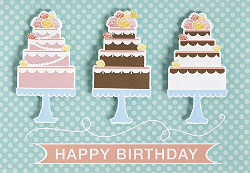 Verjaardagskaart Lifestyle - taart, dwars - 11,6 x 16,6 cm