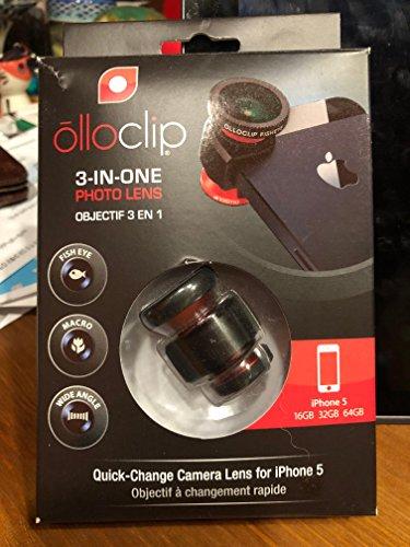 Olloclip 3-in-1 Objektiv (Fisheye, Wide-Angle, Macro) für iPhone 5, Schwarz