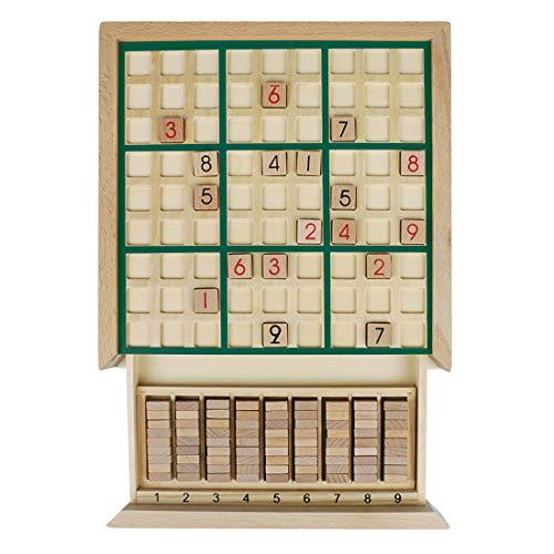 Andux Zone Bois Sudoku Jeux de société avec tiroir SD-02 (Vert)