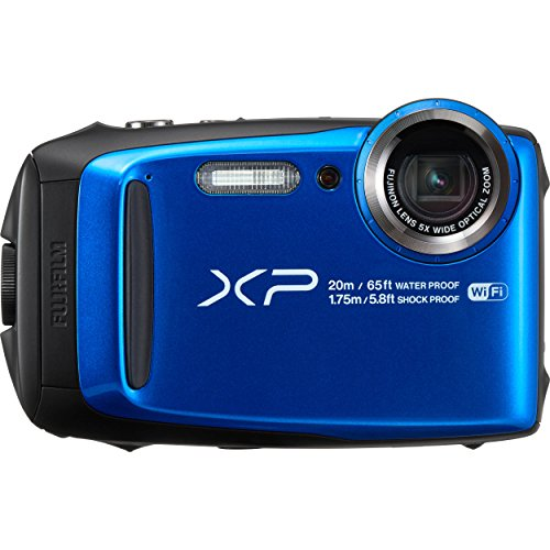 Fujifilm FinePix XP120 - Cámara acuatíca de 16.4 MP (Pantalla de 3', estabilizador óptico, Video Full HD, WiFi) Azul