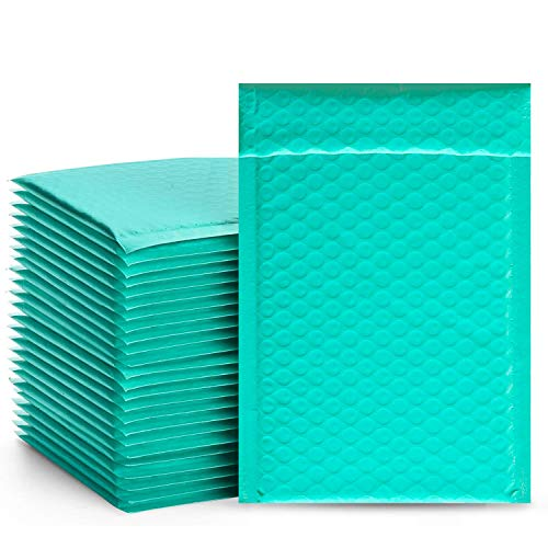 FilmHoo 60 Pcs Poly Bubble Mailers 4x8 inch Padded Envelopes Shipping Envelopes,Packaging Bags for Small Business Bubble Mailer Self Sealing Padded Envelope Teal