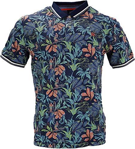 LERROS Herren Poloshirt 2953220 Vintage Blue Blumenprint (XL)