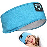 Sleep Headphones Bluetooth Headband, Perytong Upgrage Soft Sleeping Wireless Music Sport Headbands, Long Time Play Sleeping Headsets with Built in Speakers Perfect for Workout, Running, Yoga