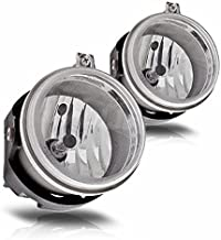 AUTOSAVER88 Fog Lights Compatible with Dodge Caravan Charger Challenger Caliber Chrysler Pacifica Sebring Jeep Patriot Compass (OE Style Clear Lens w/Bulbs)